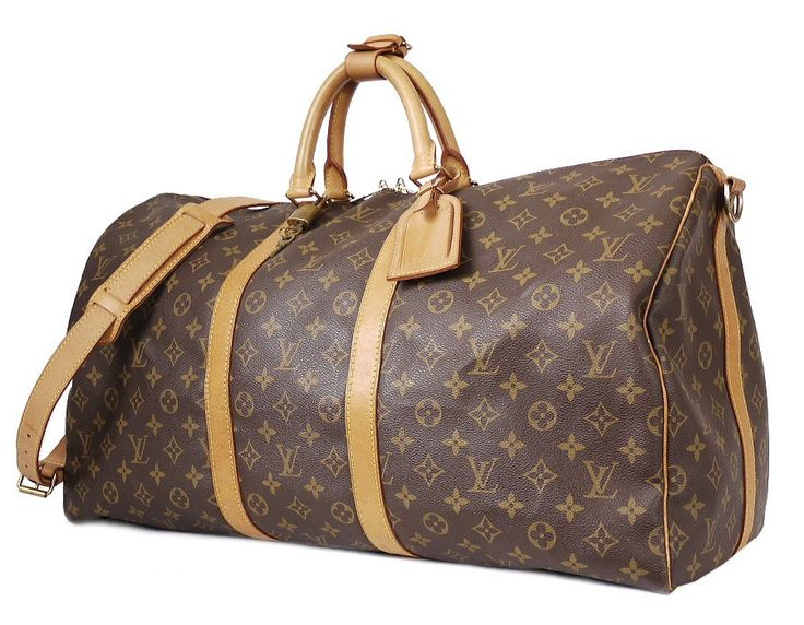 Louis Vuitton Monogram Keepall Bandouliere 55 Duffle Bag. Very large travel bag for unisex use $980