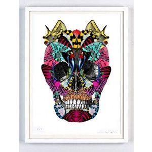 Skull Art Print by Kristjana S. Williams | Fidrilda Kupar.  Available to buy online from Everything Begins.    Roses are dead broken skull print by magnus gjoen - available to buy online from Everything Begins    Skull Art Print - available to buy online at Everything Begins.    #skullart #skullartwork #skullprint #skullartprint #art #print #artprint #artprints #artwork #bright  #colourful #modernart #contemporaryart #gicleeprint #limitededition #signedandnumbered