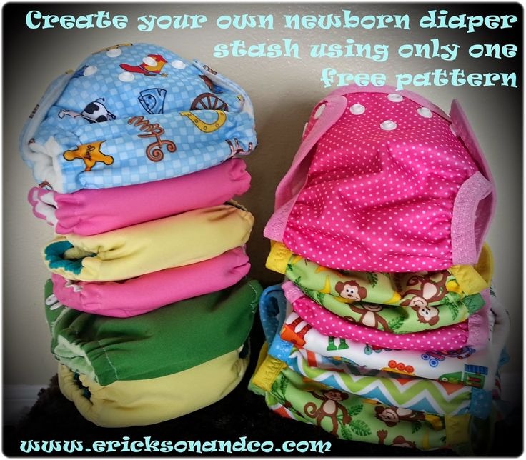 {free sewing pattern} Sew Your Own Newborn Diaper Stash Using Only One Pattern