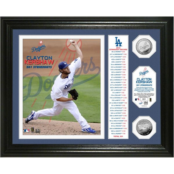 Clayton Kershaw Los Angeles Dodgers Highland Mint 2015 Stats Photomint - $119.99