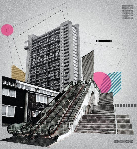 Like the collage style - reminds me of my study!   SOCIAL POSTER by Rebecca Rumble