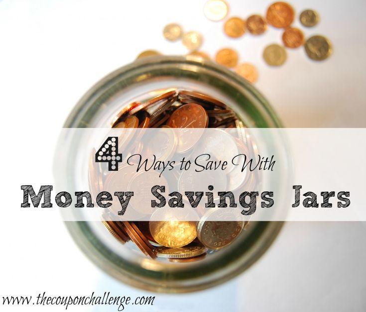 4 Ways to Save with Money Saving JarsFrugal Living, Money Stewardship, Financial Info, Money Management, Saving Jars, Money Saving, Life Hacks, Financial Freedom