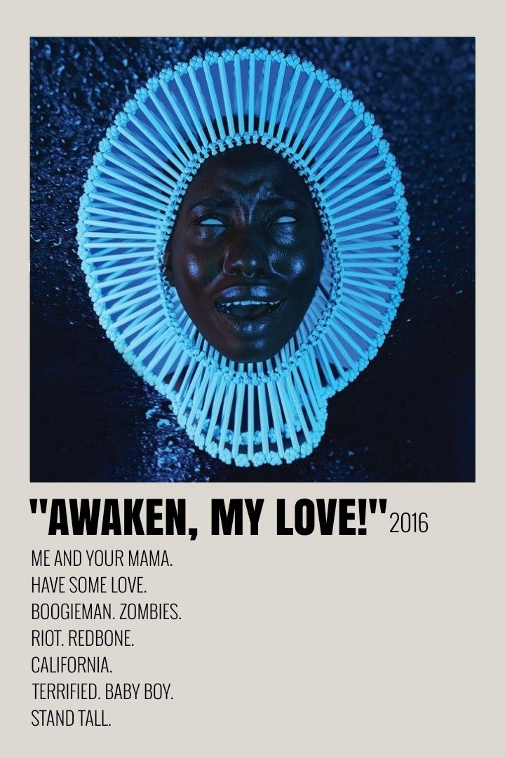 Awaken My Love  Album Art Poster  Wall Art Print  Home Decor  Poster  Tracklist  Multiple Sizes Childish Gambino