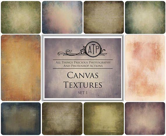 Fine Art Digital CANVAS Textures / Overlays SET 1