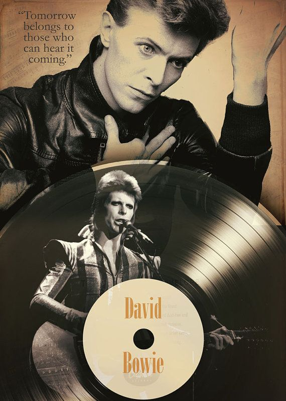David Bowie poster Tomorrow belongs to those who can hear it coming. Code -3QT…