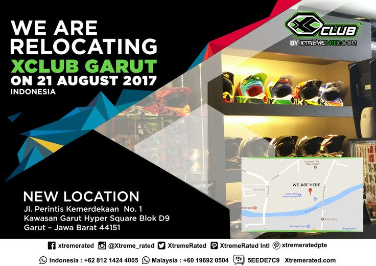 We Are Relocating XCLUB GARUT on 21 August 2017 New Location Jl. Perintis Kemerdekaan No.1 Kawasan Garut Hyper Square Blok D9 Garut - West Java 44151 Indonesia.  #xtremerated #xclub #indonesia #garut