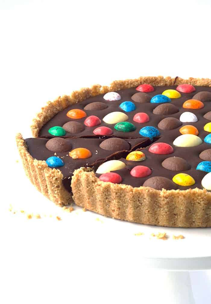 The ultimate Easter dessert right here! Delicious no bake Chocolate Ganache Tart…   – easter