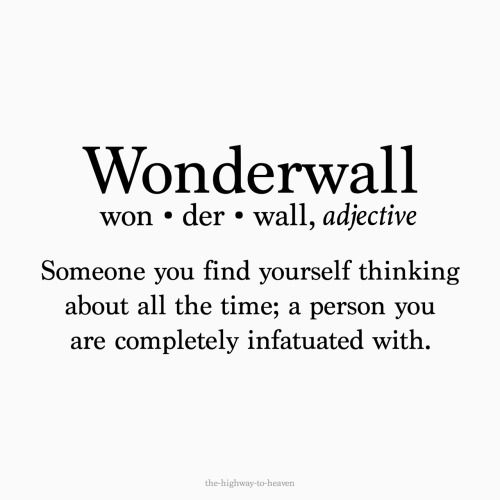 wonderwall definition - Google Search