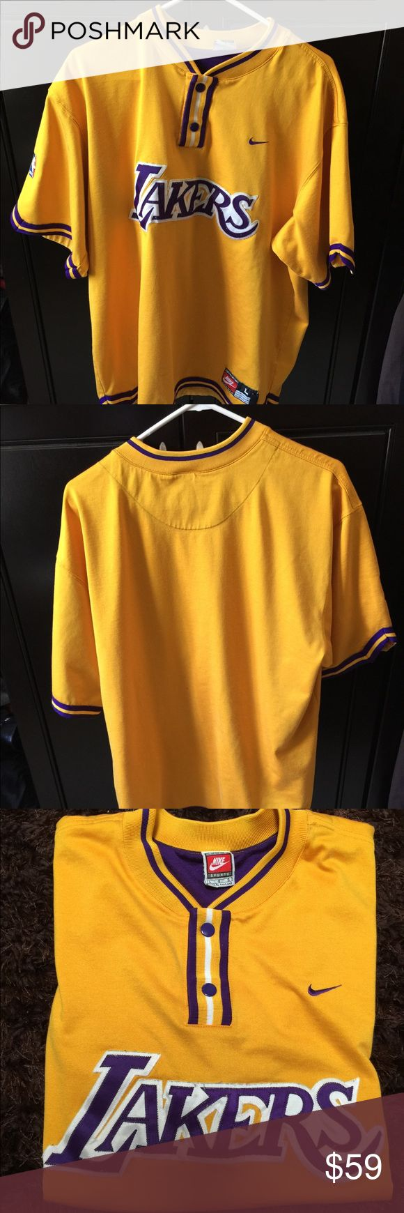 Nike Sport Lakers Shirt size L Used but great condition yellow Nike Lakers Shirt. Nike Other