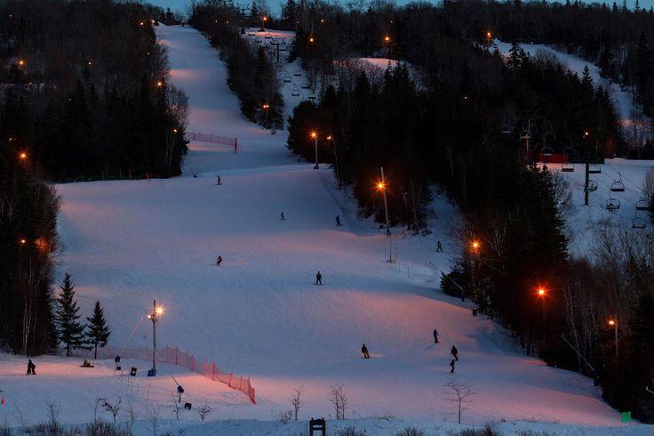 Night skiing in Nova Scotia