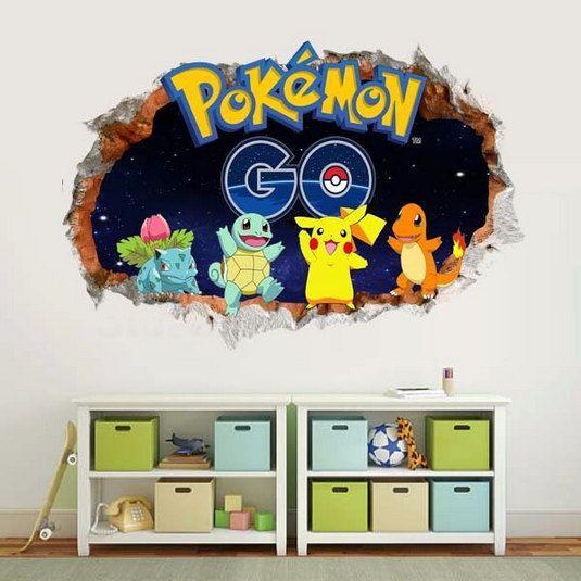 Une peinture murale de mur sur le thème pokemon qui permettra de créer une bonne ambiance pour une chambre d'enfant. Facile à installer - il suffit de peler et coller. Imprimé sur une feuille de vinyle de haute qualité qui peut être collée et retirée de la n'importe quelle surface propre et sèche ! Ce vinyle, contrairement à d'autres vinyls, ne laisse pas de résidu et ne supprime pas la peinture de vos murs. Vous pouvez l'utiliser à l'intérieur ou à l'extérieur sans souci, il n'endommagera…