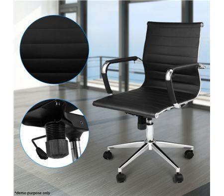 Black Replica PU Leather Office Chair
