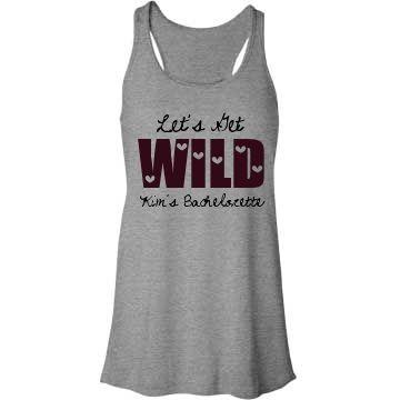 Let's Get Wild Bachelorette Party Tank Top $26.97 #bachelorette #bacheloretteparty #tanktop