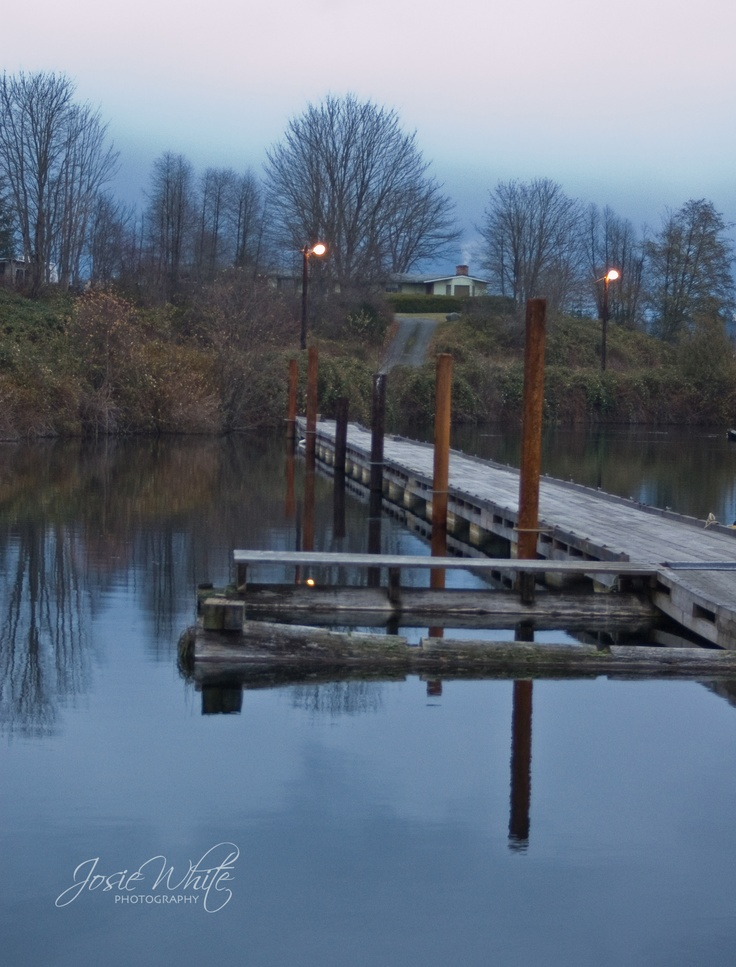 Campbell River Fresh Water Marina- early morning  Josie White Photography