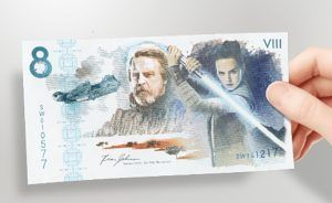Official Commemorative Bank Note Launched To Celebrate Release Of 'The Last Jedi' Star Wars Collection
