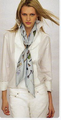 All White, with Hermes Scarf                                                                                                                                                                                 More