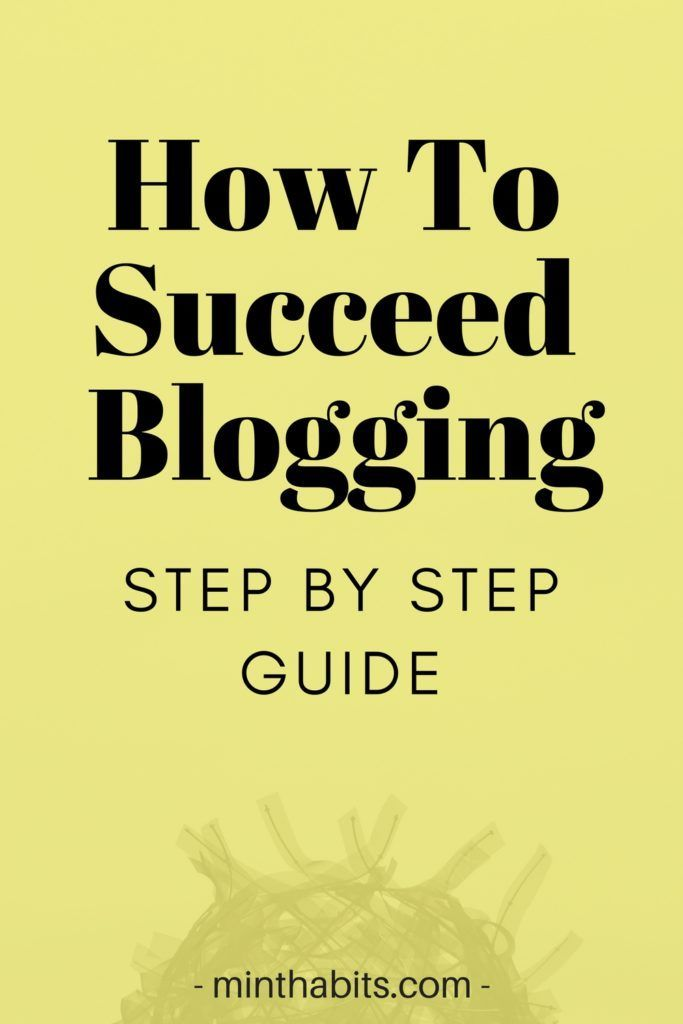This blog post teaches you how to become a successful blogger! It's really simple and straight forward to follow.