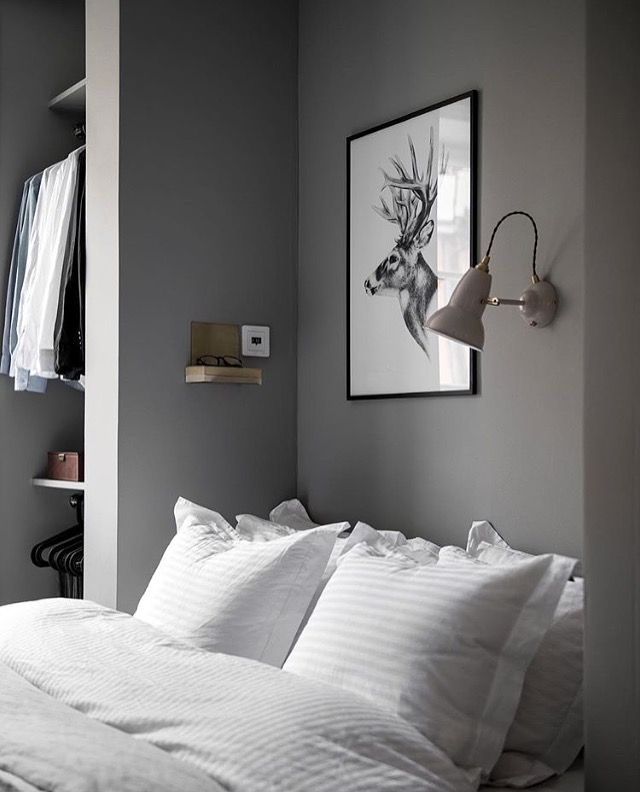 A beautiful grey and white bedroom - Is To Me