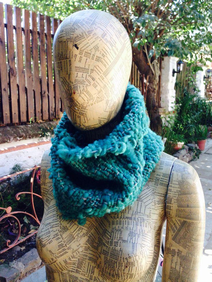 Cuello verde... 100% lana natural!!