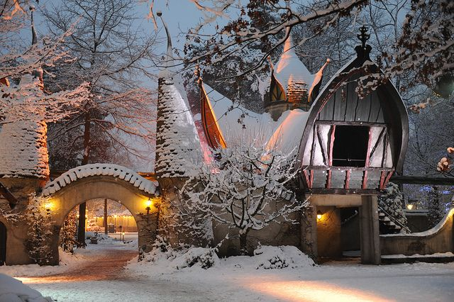 efteling, holland, laafland, snow, the netherlands