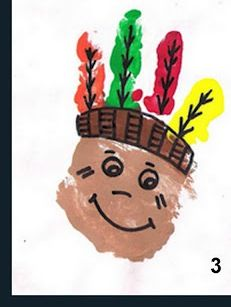 Indian handprint - so cute, make when studying native americans or at Thanksgiving
