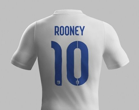 Neville Brody's typeface for the England football World Cup kits