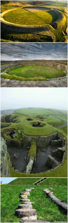 """Viking ring fort and settlement, the Shetland Islands, Jarlshof, Scotland. It has been described as """"one of the most remarkable archaeological sites ever excavated in the British Isles"""". It contains remains dating from 2500 B.C.-1600 A.D."""