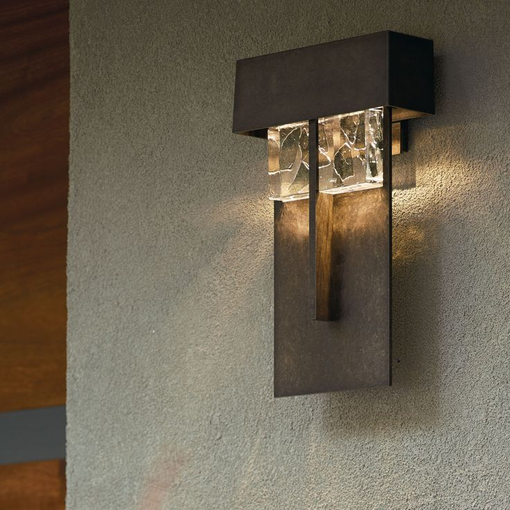 Hubbardton Forge Shard 1 Light Large LED Outdoor Wall Sconce In Dark Smoke