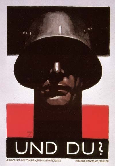 """Striking. This one is on my very short list of prints to buy. (""""WW2 German propaganda poster"""")"""