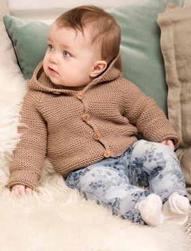 Strikkeopskrift | Strik fin og blød babyjakke i retstrik | Fin strik til de mindste | Strik til børn med søde motiver og detaljer | Lun og blød børnestrik
