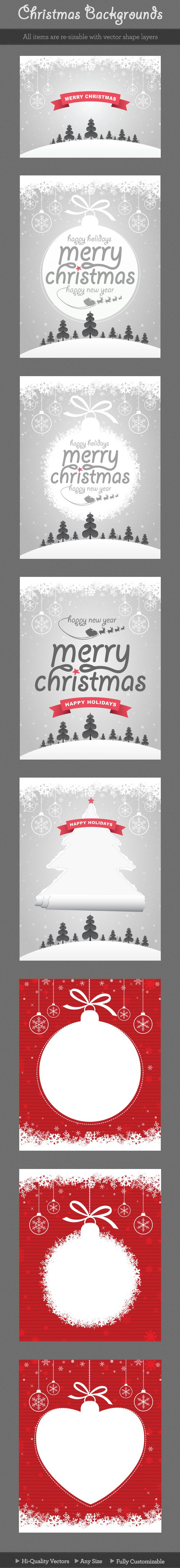 Christmas posters, backgrounds and snow globe design. #illustration #vector #poster #flyer #psd #christmas #ornaments