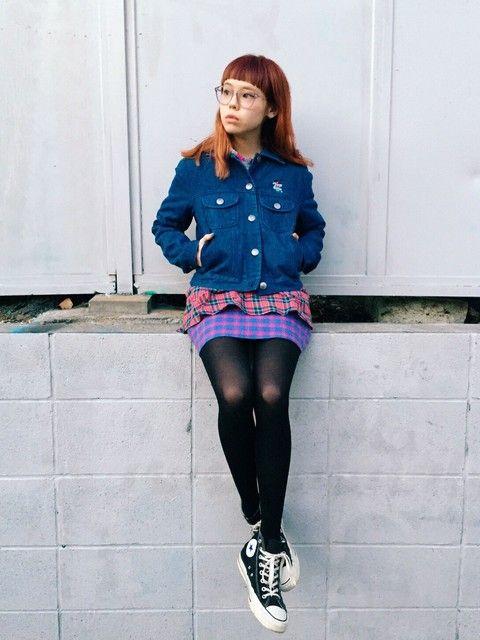 デニムシャツみたいなジージャンのカジュアルコーデ 裏原系タイプのファッション スタイル参考コーデ♡