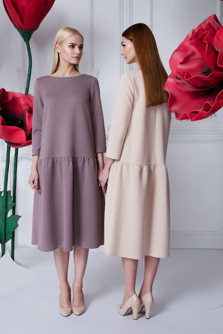 Платье «Даниэла» миди пыльная роза — 26 990 рублей, Платье «Даниэла» миди беж — 26 990 рублей
