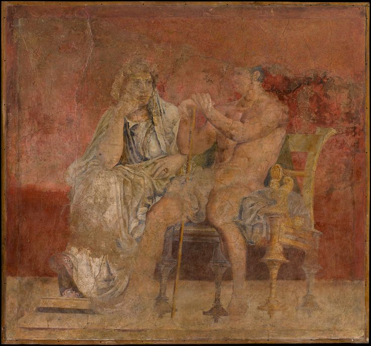 Wall painting from room h of the villa of p fannius for Ancient roman mural
