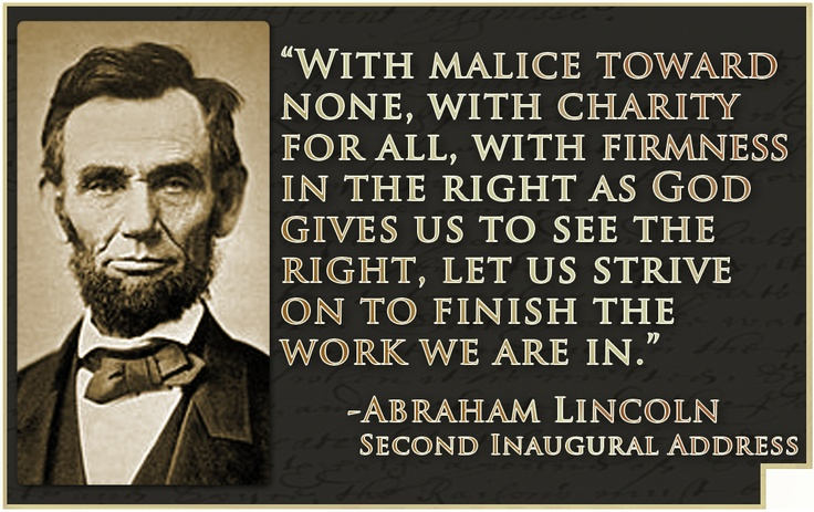 President Lincoln's Second Inaugural Address, 1865