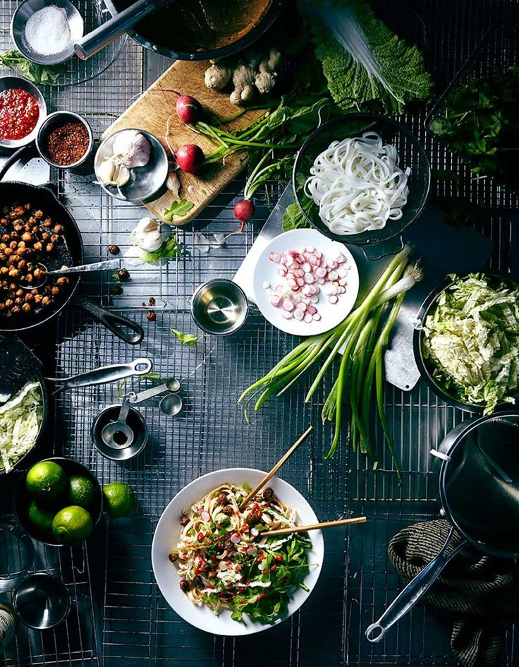 Food Photography Overhead Shot High Up