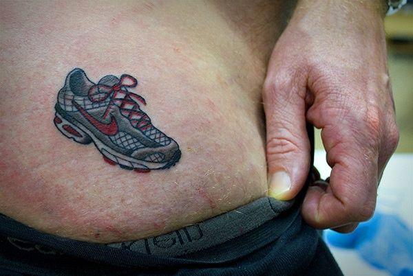running tattoos   Marathon Running Tattoo   ... tiny sneakers for an ...   tattoo ideas