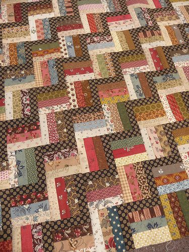 Saut de chat - Tempus fugit..simple quilts with CW fabrics always a winner!