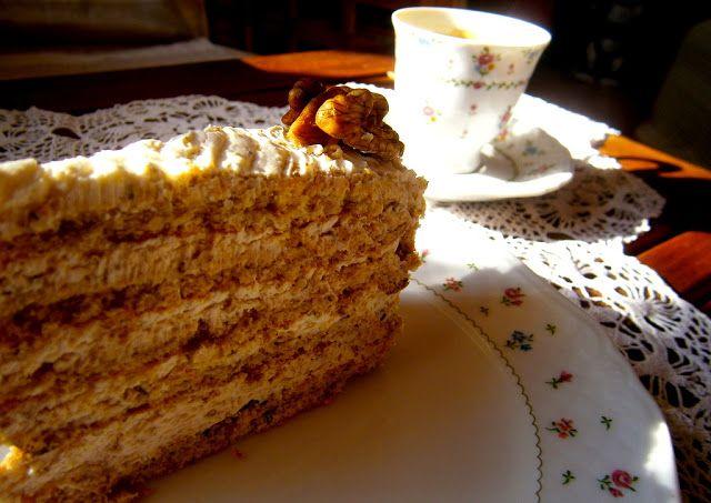 Rozmaring & ibolya: Citromfüves duplán diós torta