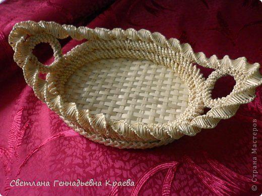 Поделка изделие Плетение Изделия из соломки Соломка фото 1