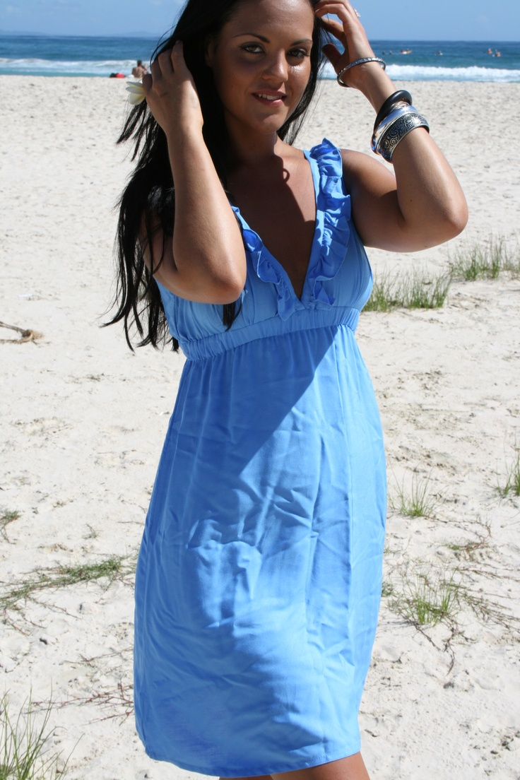 "www.ladywatego.com  Blue ""Copacabana"" dress by Lady WATEGO Byron Bay..."