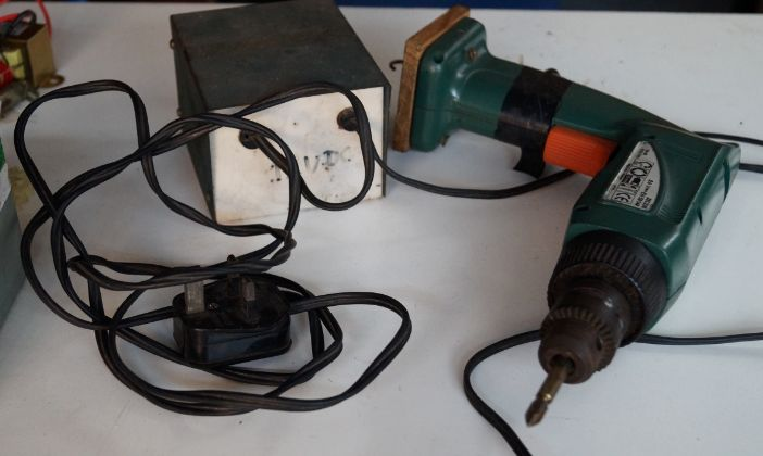 Cordless Drill Conversion by Ahmad Shahidan -- Homemade cordless drill conversion constructed from surplus batteries, wire, and a power supply. http://www.homemadetools.net/homemade-cordless-drill-conversion