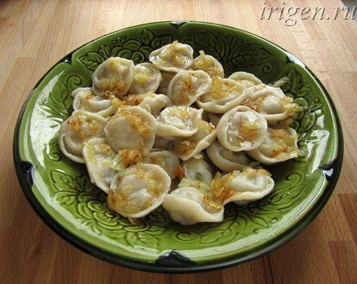 постные пельмени с картофелем и грибами