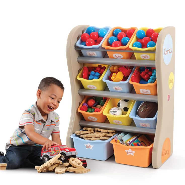 The Step2 Fun Time Room Organizer is a creative storage center for toys, books and children's accessories.
