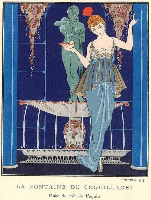 George Barbier Art Deco print