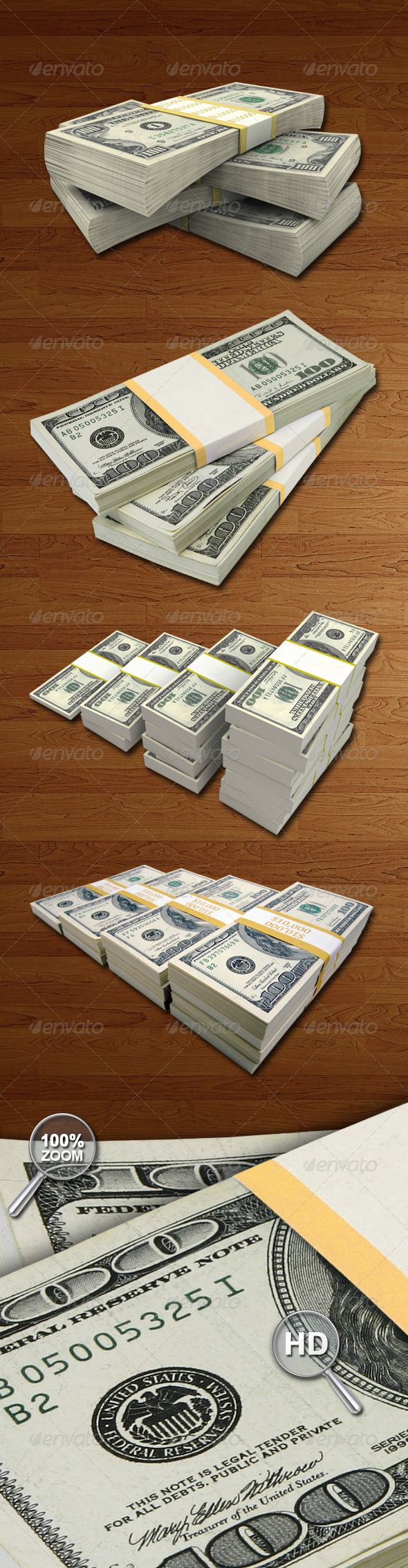Money Packs Hi-Res #GraphicRiver 4 Money packs, perfect for any use. High quality pictures and clean cutout. 1 PSD files. 4 PNG files with transparent background. 4 JPEG files. Dimensions : 300 DPI reday for print. The colors can be easily manipulated in Photoshop to be whatever you would like. Suited to be used for framing ads, video clips, ending credits, web pages, etc… Enjoy! Flyers Bundles YOU MAY ALSO LIKE Created: 4June13 GraphicsFilesIncluded: PhotoshopPSD #TransparentPNG #JPGImage…