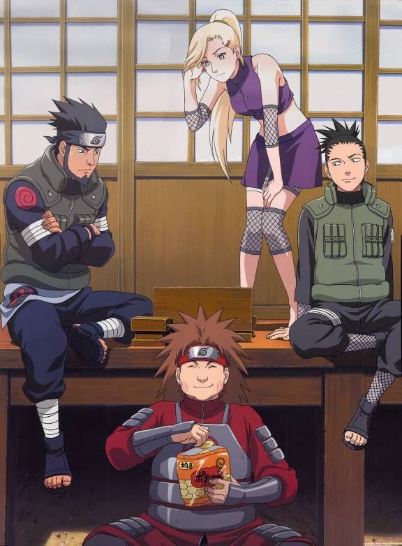Team 10: Asuma, Ino, Shikamarau and Choji