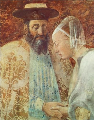 Meeting between the Queen of Sheba and King Solomon (detail) - Piero della Francesca