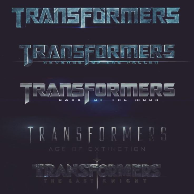 *Font Evolution : TRANSFORMERS Movies / Bay-verse.