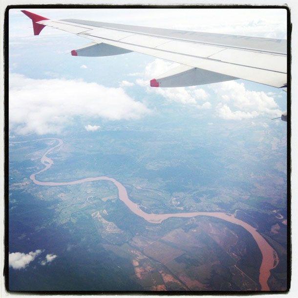El río Magdalena visto desde las nubes